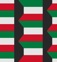Kuwait flag texture vector