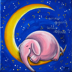 Pink Elephant On The Moon