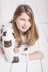 junges Mädchen einfaches Portrait