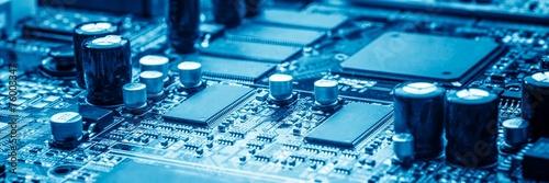 Leinwandbild Motiv microchip