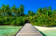 canvas print picture - Steg zu einsamer Insel
