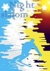 Night slalom poster