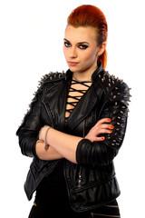 Punk Style Girl Portrait.