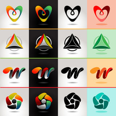 Logo and Abstract web Icon set