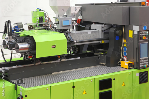 Leinwanddruck Bild Injection moulding machine