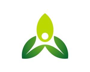 Human Leaf Logo v.4