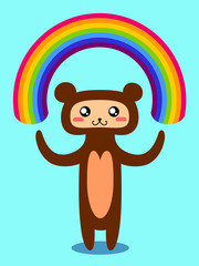 Bear and rainbow.