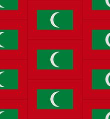 Maldives flag texture vector