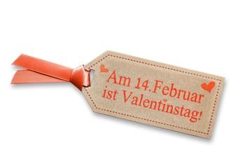Am 14. Februar ist Valentinstag auf Plakette