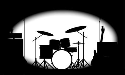 Half Tone Rock Band Poster