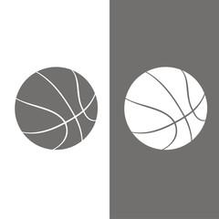 Icono balón baloncesto BN