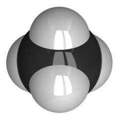 Methane molecule isolated on white