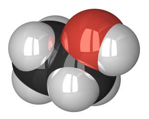 Ethanol molecule isolated on white