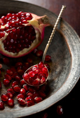 Red pomegranate seeds
