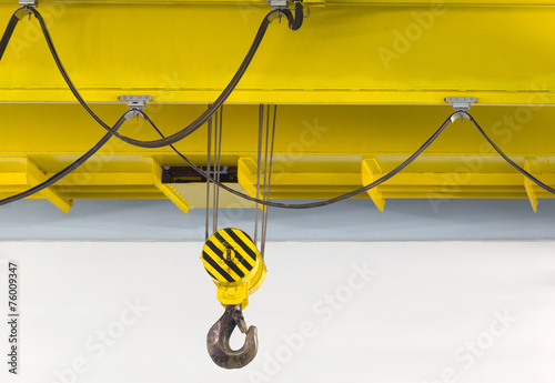 Leinwanddruck Bild Factory overhead crane
