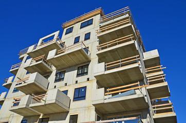 rohbau, wohnhaus, betonteile