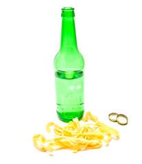 squid rings and beer
