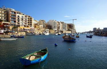Beautiful morning at Spinola Bay, St Julian's ,  Malta.