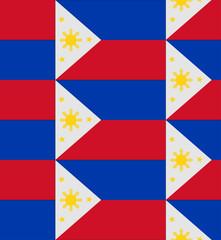 Philippines flag texture vector