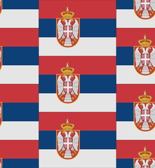 Serbia flag texture vector