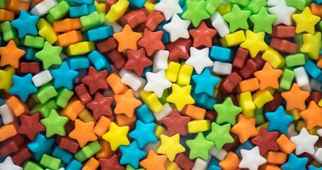 Multicolored stars candies