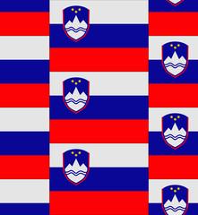 Slovenia flag texture vector