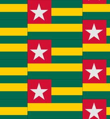 Togo flag texture vector