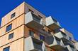 canvas print picture - holzbau, wohnhaus, balkon