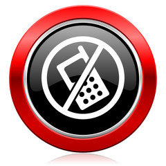 no phone icon no calls sign