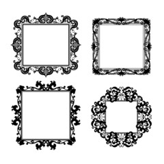 silhouette carved frame for picture or photo