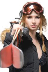 Freeride girl portrait