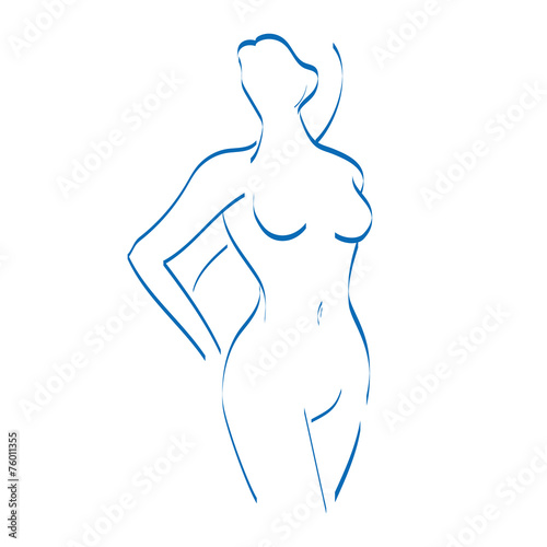 canvas print picture Female Shape