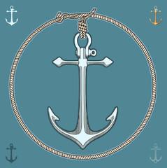 Nautical Anchor vector illustration