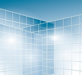 glass walls of buildings - windows - vector
