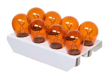Packing light bulbs. insulation.