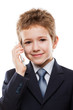 Child boy talking mobile phone