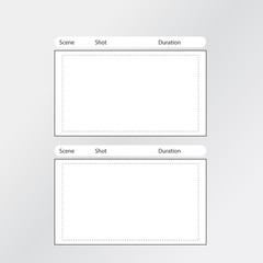 storyboard template x2 square