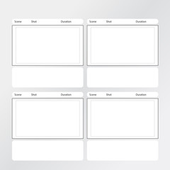 storyboard template x4 square
