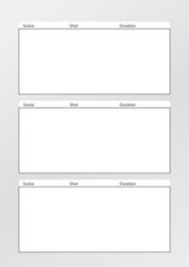 Film storyboard template vertical x3
