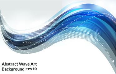 vector illustration blue wave background