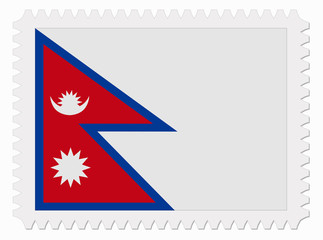 Nepal flag stamp