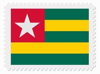 Togo flag stamp