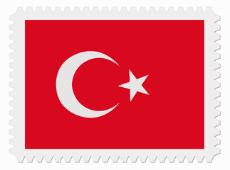 Turkey flag stamp