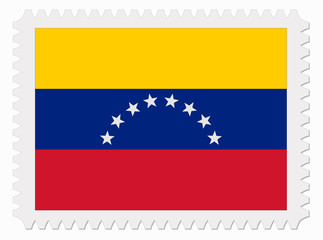 Venezuela flag stamp