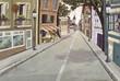 calle de pueblo
