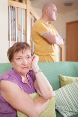 quarrel between  mother and  son.