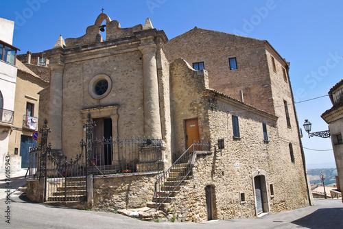 Leinwanddruck Bild Church of St. Vincenzo. Acerenza. Basilicata. Italy.