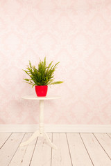 Vintage interior with Poinsettia
