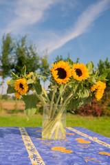 Bunch sunflowers