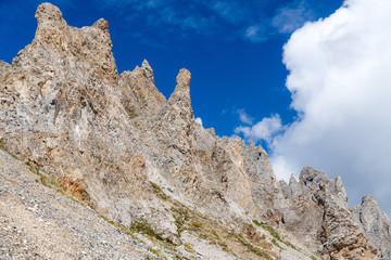 Ruined rocky ridge.
